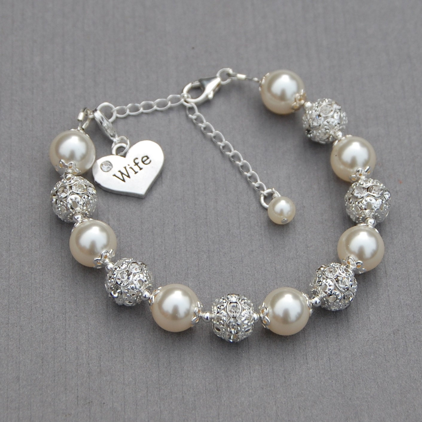 Wife Gifts Christmas: Wife Charm Bracelet Gift For Wife Wife Jewelry Christmas