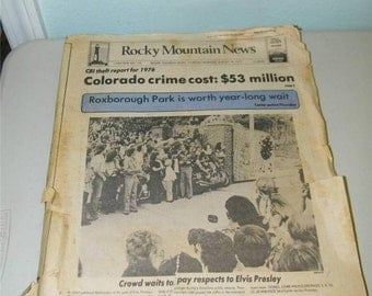 Rocky Mountain News August 18 1977 Newspaper Elvis Dead 11256