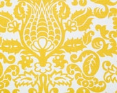 CLEARANCE!! 1 yard Premier Prints Fabric - 1 yd - Corn Yellow Amsterdam - Premier Prints Yellow and White Home Decor Slub Fabric