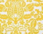 CLEARANCE!! 1 yard Premier Prints Fabric - 1 yd - Corn Yellow Amsterdam - Premier Prints Yellow and White Home Decor Slub Fabric