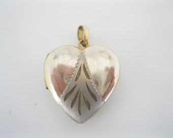 Vintage small goldfill and sterling locket