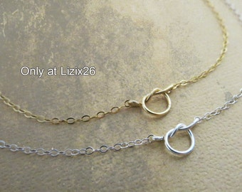Tiny Knot Necklace, Tie the Knot Necklace, Handmade Teeny Tiny Knot, Gold Fill//Sterling Silver, Bridesmaids Necklace, Bridesmaids Jewelry