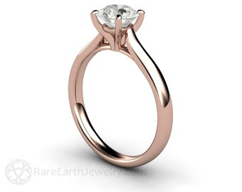 1ct Diamond Engagement Ring Diamond Solitaire GIA Certified E VS1 14k or 18k Gold Platinum Palladium Conflict Free Engagement