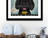Schnoodle dog coffee company illustration giclee archival print by stephen fowler Pick A Size