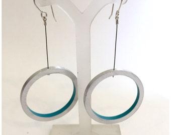 Blue Pega Circle Earring