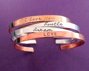 Personalized Cuff Bracelet - Thin Custom Cuff - 1/5 inch