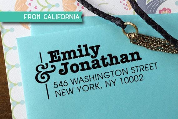 custom ADDRESS STAMP with proof from USA, Eco Friendly Self-Inking stamp, return address stamp, custom stamp, wedding designer stamp 26