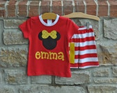 CLASSIC MOUSE Summer Pajama Short Set - Personalized Monogram - Sizes 12m-10