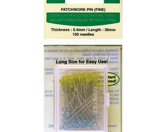 Clover PATCHWORK PINS (Fine) Quilting Sewing Notion Article Number 2507