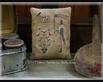 Primitive Uncle Sam Americana Pillow Keep E-Pattern PDF