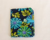 Clearance Tea Bag Wallet--Blue Daisies