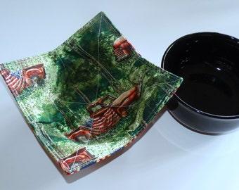 Bowl Cozy/Grapes Hot-Cold Bowl Pad/ Reversible 100% Cotton/ Microwave