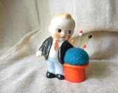 Vintage Little Boy All Dressed Up next toTop Hat Pin Cushion, Japan