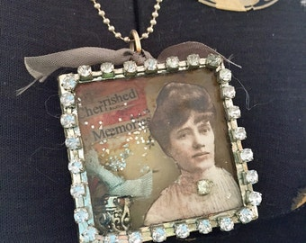 Treasured Memories Soldered Shadow Box Necklace