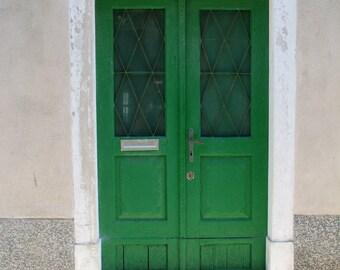 Croatia Photography, Doors, European Streets, Costal Living, Green Door