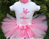 Baby Girl 1st Birthday Outfit, Baby Girl Clothes, Pink Birthday Tutu, Cake Smash Photo Prop