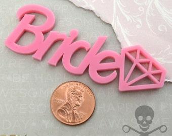 BUBBLEGUM BRIDE CABOCHON- Pink Laser Cut Acrylic