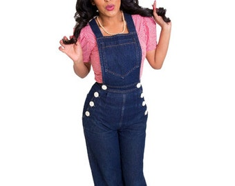 Pinup Girl Overalls Rockabilly Clothing All Sizes SALE