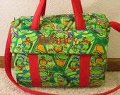 Teenage Mutant Ninja Turtle Diaper Bag w/change pad by EMIJANE