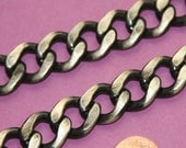 2 ft Antique brass chain, Aluminum Chunky heavy chain Curb open link chain  16x20mm, large chunky chain aluminum chain