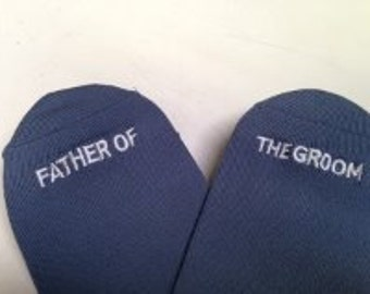 "For the ""Father of the Groom"" Socks Best Wedding Gift, Mens Wedding Socks Gifte, Groom Wedding Attire Accessory"