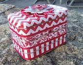 Altered Altoid Three Tins Jewelry Treasure Box RED with White Funky Fun Festive!