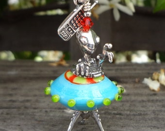 Alien // Martian // Pendant // Penny Michelle // Heather Trimlett // Spaceship // Collectible
