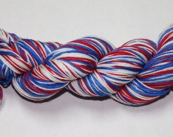 Ready to Ship - Patriotic Self Striping Hand Dyed Sock Yarn - Twist Sock