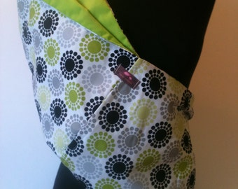 Baby Sling  Baby Carrier - Black and Lime Strobes Lime Lining - Second Item Ships Free