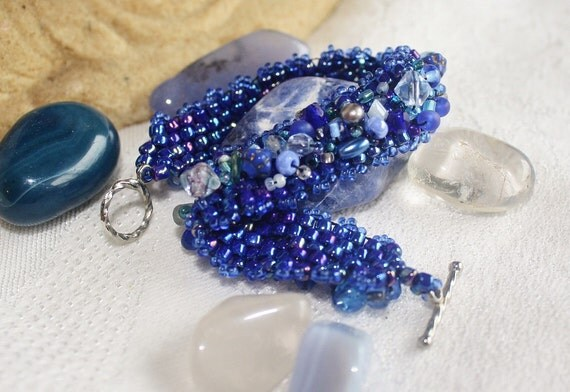 Singing the Blues - Bead Woven Bracelet