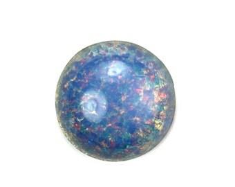 Glass Cabochons Czech 18mm Round Blue Opal (1) GC061