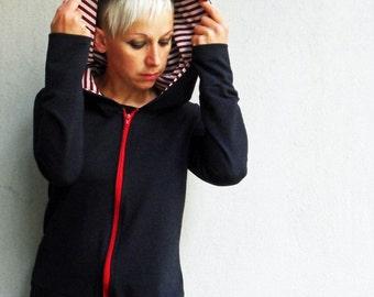 Hoodie Sweatshirt for women, women clothing,black sweater, hoodie sweater,hoodie top,women sweatshirt,womens sweater