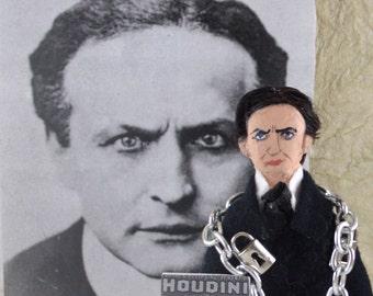 Houdini Doll Miniature Escape Artist Historical Art Collectible