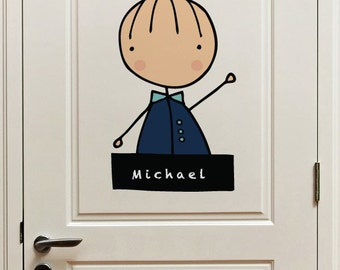 My name is (boy) - Wall Decal - Wall Sticker