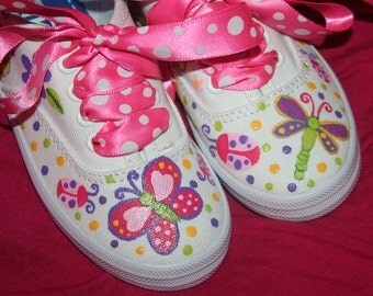 SPRING BUTTERFLIES Ladybug Caterpillar Dragonfly Custom Shoes Any Size