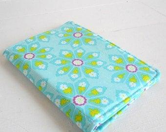 mini list coupon organizer memo pad holder aqua floral