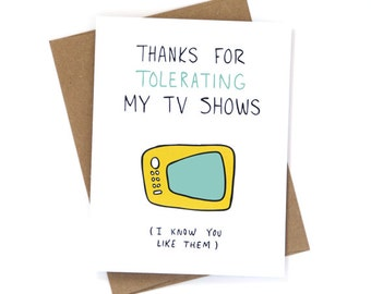 Funny Valentine's Day Card - My TV Shows