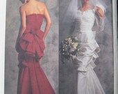 Vogue Bellville Sassoon Bridal Wedding Dress Pattern 2180