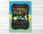 Cute Pool Party Invitatio...