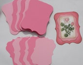 Shabby Chic Card Kit 6 Fancy Cards and Mats Stampin up Regal Rose Pretty in Pink