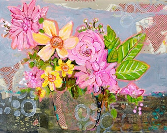 Flower Art, Gift For Her, Still Life Prints, Floral Bouquet, Flowers, Uplifting, Arrangement
