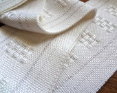 handwoven winter white lightweight scarf