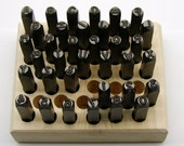 6mm CRV Steel 36 Piece Stamp Set - Premium Number & Letter Punches