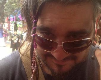 """FREE USA SHIPPING! Hair Twister 2"""" mini -Rainbow, metal spiral hair wrap, Renaissance and Fashion Hair Accessory"""