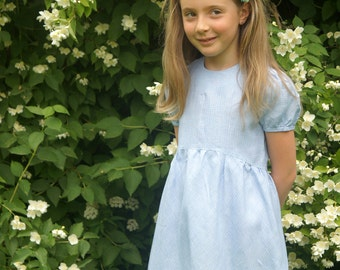 Linen Dress Gingham or small dots Modern Girls