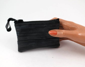 Purse. Recycled bicycle inner tube purse with black or neon color zipper, top quality.