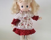 Vintage Precious Moments Doll with Brand New Dress