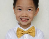 Mustard Yellow Clip-On Bow Tie