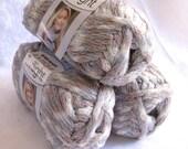 Boutique Twilight MERCURY, sand tan cream sparkling metallic super bulky weight acrylic yarn