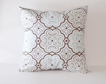 Blue Pillow Covers Damask Pillows Decorative Pillow Slipcover Cushion Covers